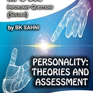 MPC-003: PERSONALITY: THEORIES AND ASSESSMENT (IGNOU MA Psychology HelpBook)