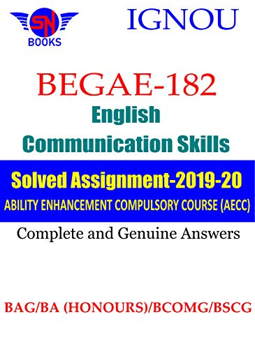 BEGAE-182 English Communication Skills IGNOU Solved Assignment (2019-2020): Complete and Genuine Answers