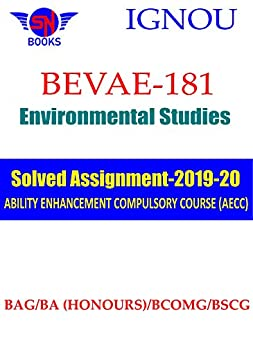BEVAE-181 Environmental Studies (English) IGNOU Solved Assignment (2019-20): Complete and Genuine Answers