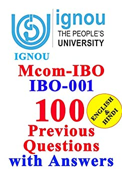IGNOU Mcom-IBO IBO-001  : 100  Previous  Questions  with Answers