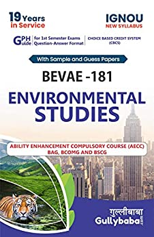 IGNOU BEVAE-181 Environmental Studies NOTES in English: IGNOU Help Book with Solved Sample Papers and Important Exam Notes