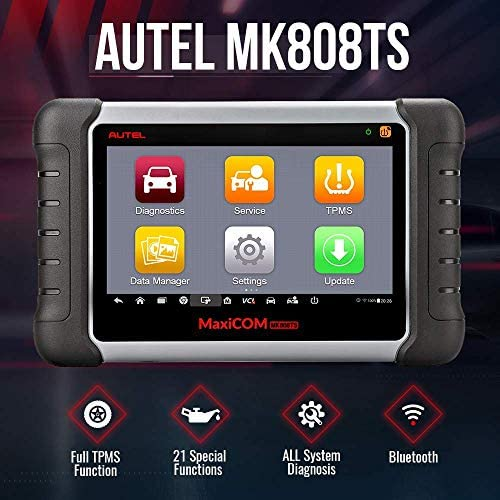 Autel MaxiCOM MK808TS TPMS Programming Tool Scanner with Full TPMS Service All Systems Diagnoses Multiple Reset Services (Same as MK808/MX808/MK808BT+TS601/TS508) (Renewed)
