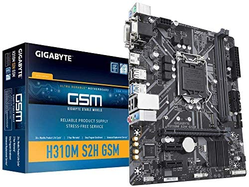 Gigabyte LGA1151/ Intel/ H310/ Micro ATX/ DDR4/ HDMI 1.4/ M.2 Motherboard (H310M S2H GSM)