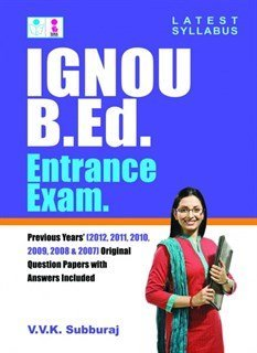 IGNOU B.Ed. Entrance Exams by Subburaj V. (2012-08-13) Paperback