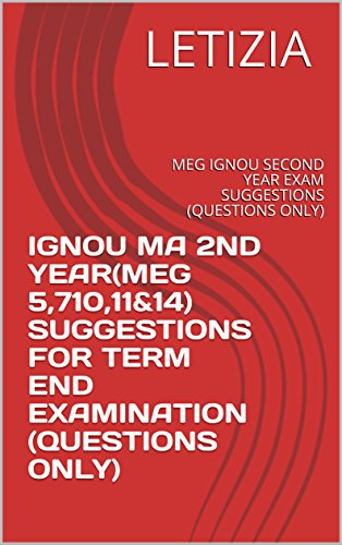 IGNOU MA 2ND YEAR(MEG 5,710,11&14) SUGGESTIONS FOR TERM END EXAMINATION (QUESTIONS ONLY): MEG IGNOU SECOND YEAR EXAM SUGGESTIONS (QUESTIONS ONLY)