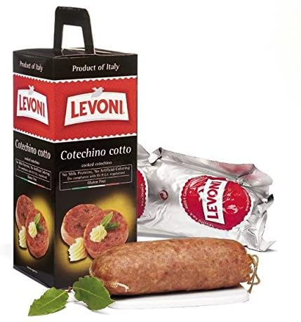 Levoni Cotechino Modena IGP - No MSG, Imported from Italy