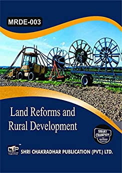 MRDE 003 LAND REFORMS AND RURAL DEVELOPMENT SOLVED GUESS PAPERS FOR IGNOU EXAM PREPARATION WITH LATEST SYLLABUS