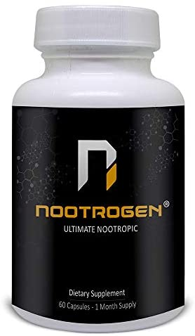 Nootrogen | Nootropic Supplement Supports Cognitive Brain Function, Mind & Focus. 60 Capsules.