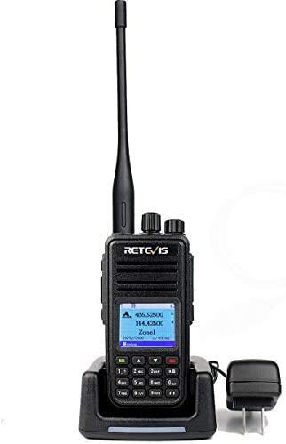 Retevis RT3S DMR Radios,Digital 2 Way Radio Long Range High Power,Dual Band Dual Time Slot Recording 120000 Contacts Ham Amateur Radio (1 Pack)