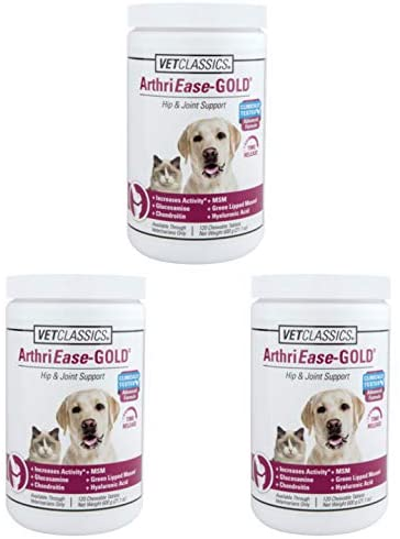 Vet Classics 3 Pack ArthriEase-Gold Hip & Joint Chewable Tabs (120 ct)